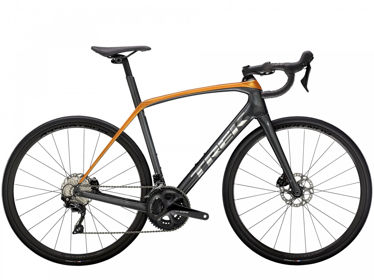 RDD-Trek Domane SL5 Disc, Lithium Grey/Factory Orange